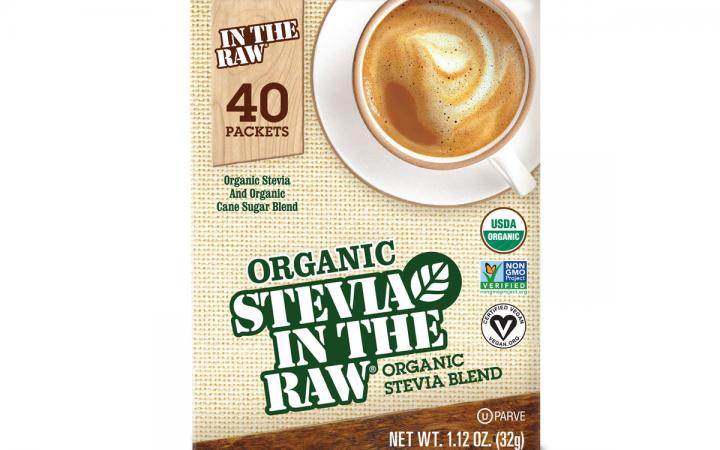 Organic Stevia In the Raw is a 100 percent USDA organic certified, non-GMO project verified, vegan-certified, and gluten-free product.