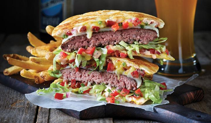Applebee's quesadilla burger.