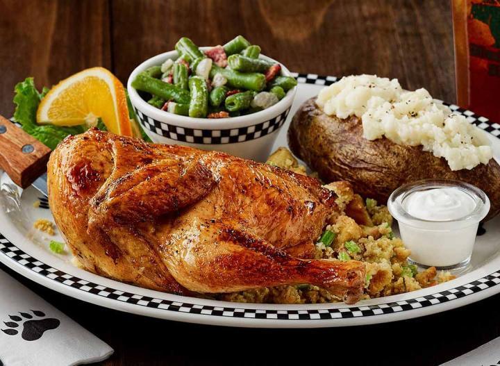 Black Bear Diner plate of roasted chicken.