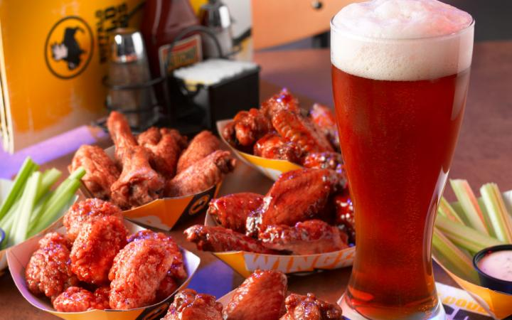 Beer and wings at Buffalo Wild Wings. The perfect food pairing.