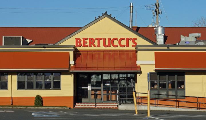 Outside of Bertucci's Restaurant.