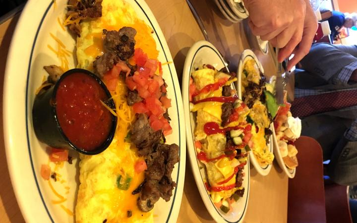 Omelettes at IHOP.