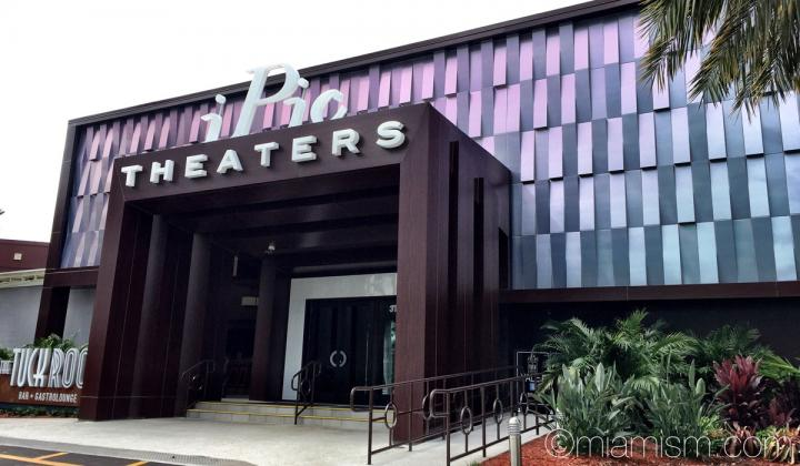 The outside of iPic movie theater.