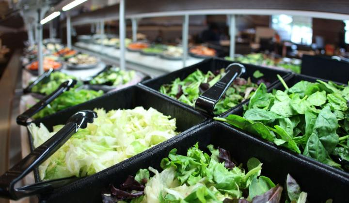The salad bar at Ruby Tuesday restaurant.