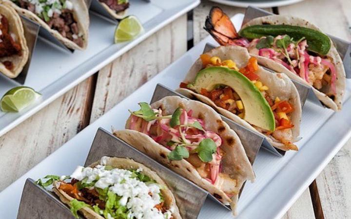 Tacos with a variety of fillings
