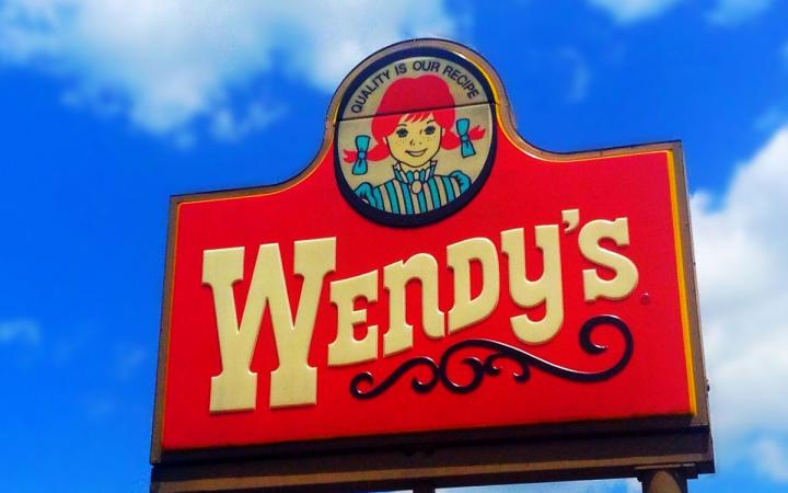 Wendy's iconic restaurant sign.