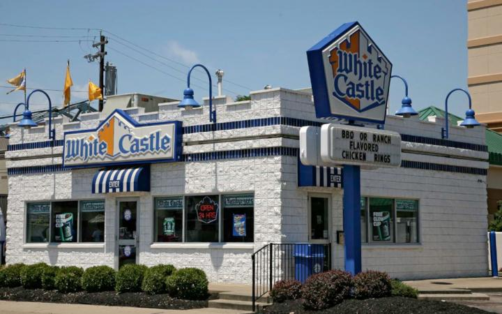 A White Castle advertises its chicken rings. The iconic burger chain announced recently it plans to start delivering.