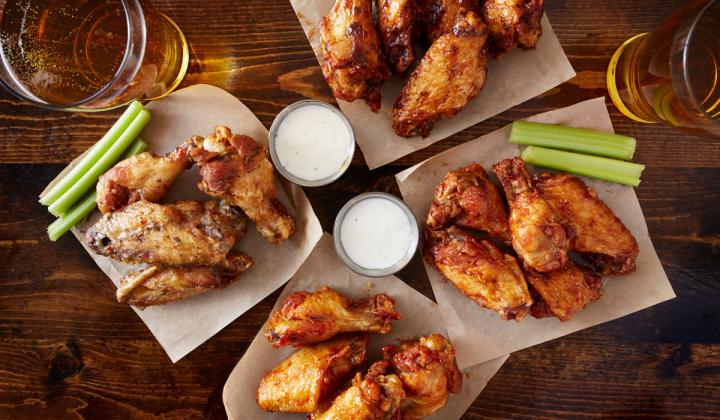 A plate full of chicken wings. This Super Bowl, Americans will eat 1.35 billion wings.