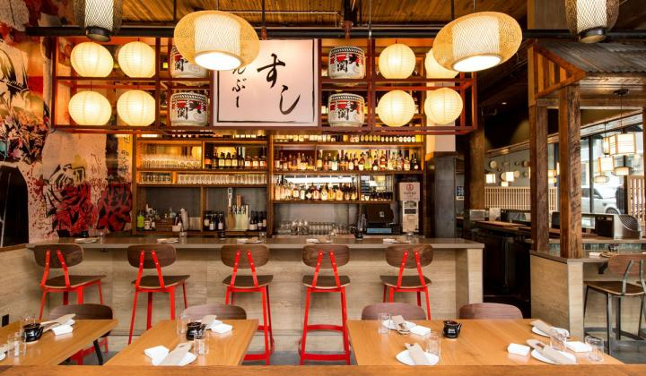 Interior of Bamboo Sushi.