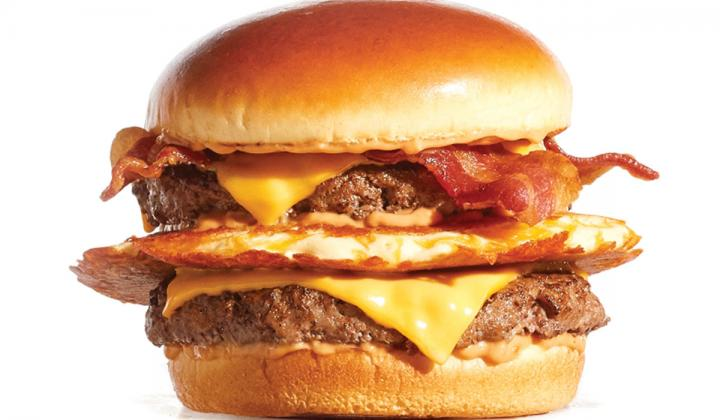 Big IHOP Pancake Burger.