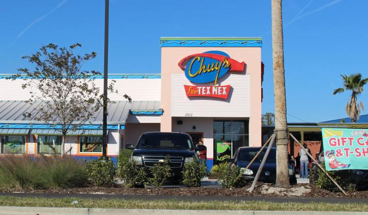 Chuy's restaurant outside Jacksonville, Florida.