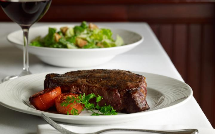 The Palm Steakhouse's renowned steaks are served fresh and hand-cut to every guest's request.
