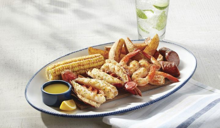 Cedar-Plank Seafood Bake at Red Lobster.