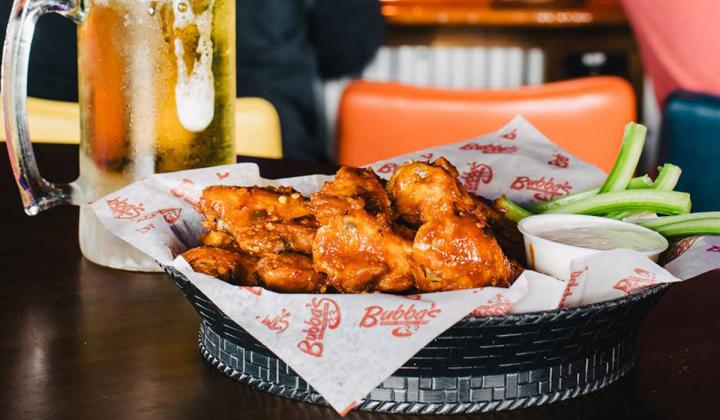 Wings and beer at Bubba's 33.