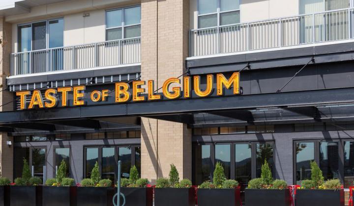 Taste of Belgium restaurant.