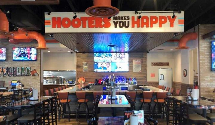Interior of Hooters