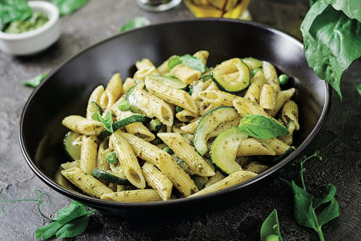 Penne Parmesan with Zucchini