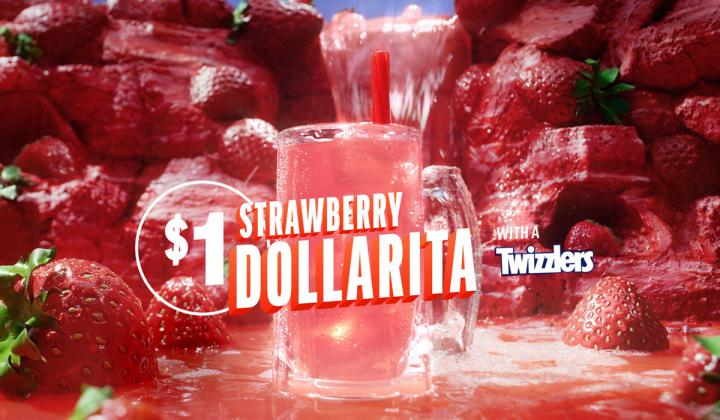 Applebee's Strawberry Dollarita.