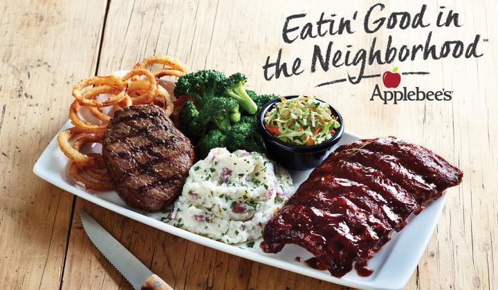 Applebee's Bigger, Bolder Grill Combos offer the choice of two bolder grilled entrées both with an abundance of sides.