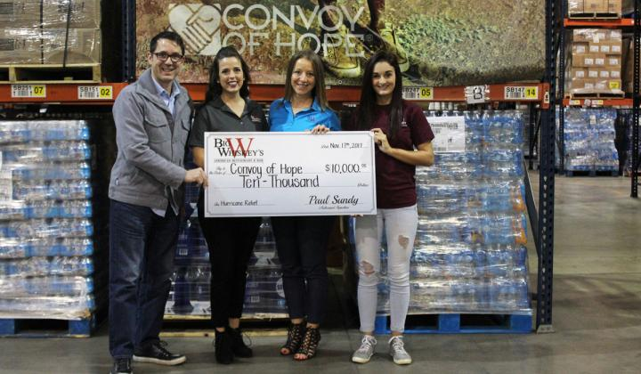 Big Whiskey's raised $10,000 for Convoy of Hope.
