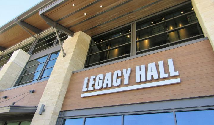 Legacy Hall finally has an opening date.