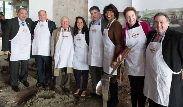 Workers break ground on the New Orleans Culinary & Hospitality Institute—a new $32 million culinary school.