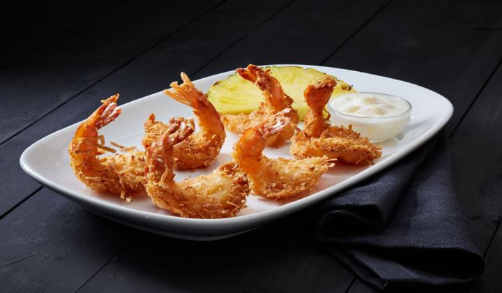 A plate of fried shrimp at Red Lobster.