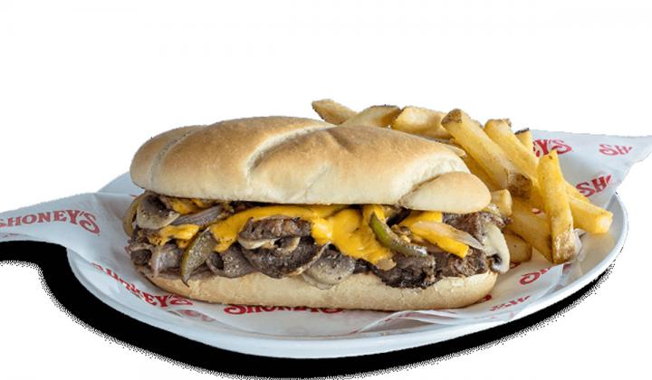 Shoney's Philly Steak and Cheese sandwich.