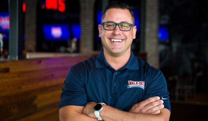 Tony Caballero has been named vice president of operations and training for Walk-on's Bistreaux & Bar.
