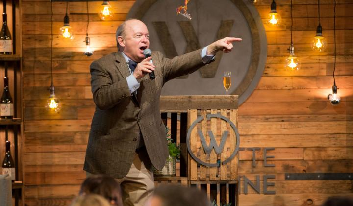 Auctioneer Fritz Hatton during the third annual Willamette: The Pinot Noir Auction.