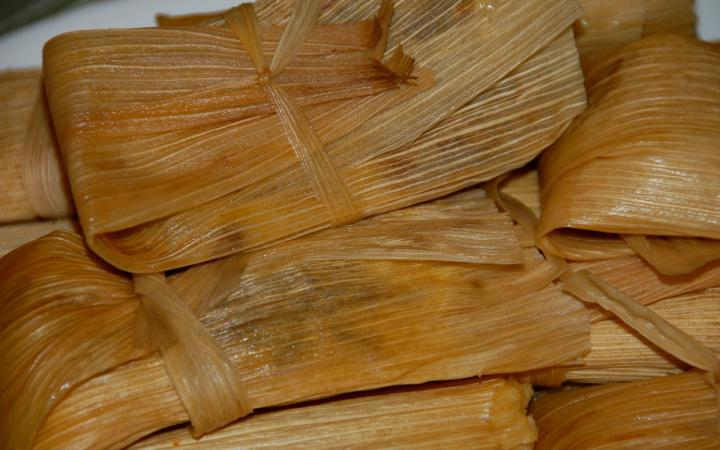A table full of tamales.