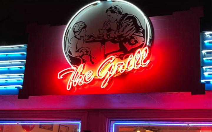 The Grill sign